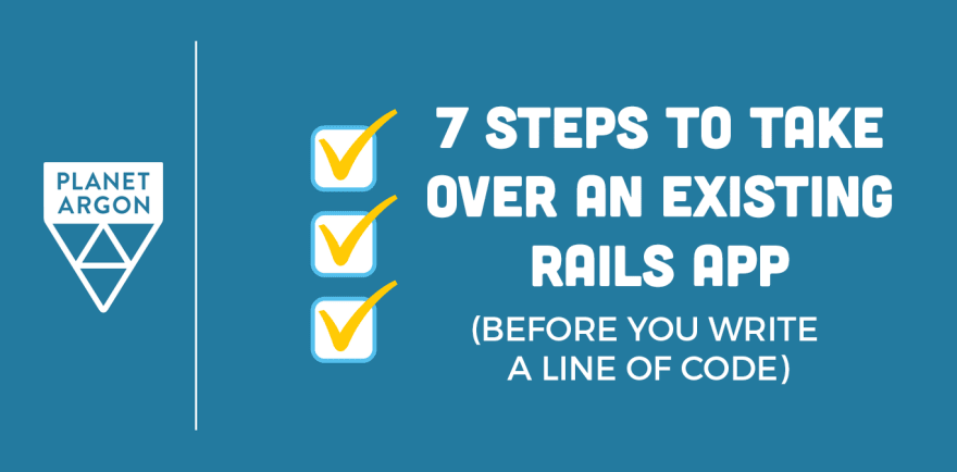 How to take over an existing Ruby on Rails app