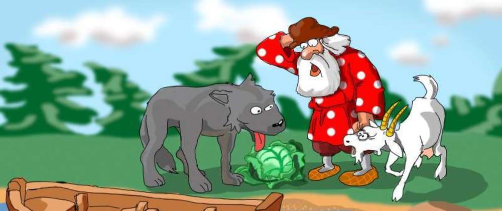 Cover image for Prolog: Acertijo del granjero, la cabra, el lobo y la col