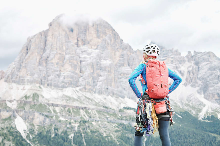 Olga climbing the mountains
