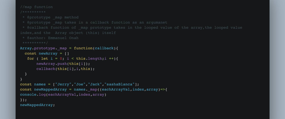 Cover image for DAY 1 of building the Higher Order Functions in javascript. the map Higher Order Function.