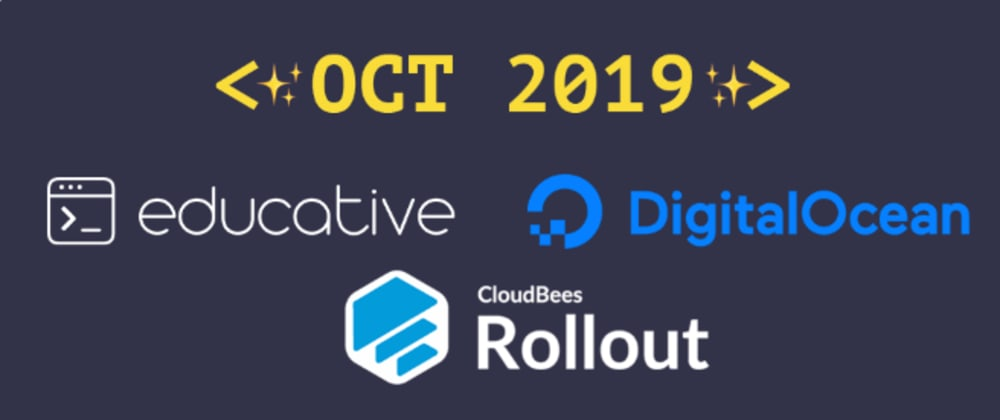 Cover image for Introducing our October 2019 sponsors