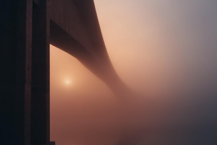 Bridge In The Mist in Stockholm, Sweden