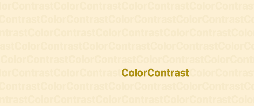 Cover image for Color contrast: beyond text