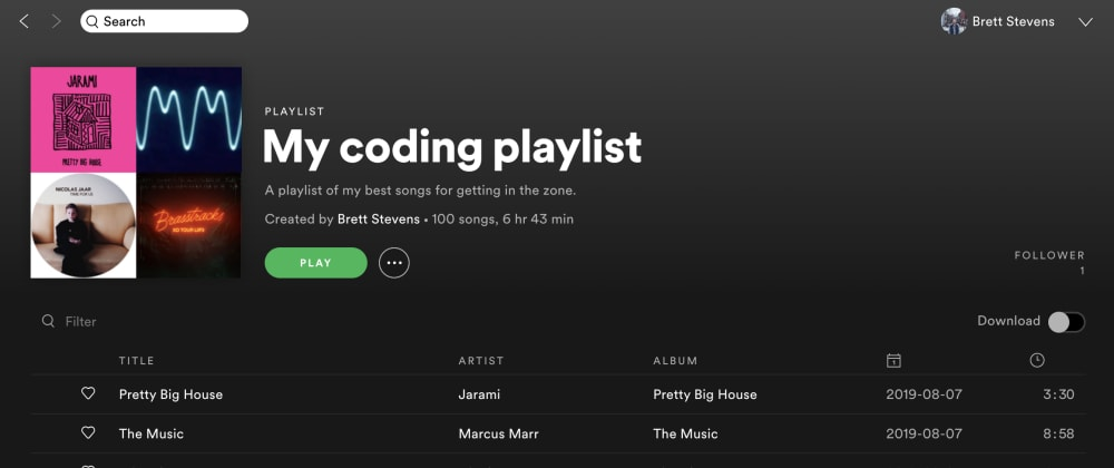 Cover image for My coding playlist