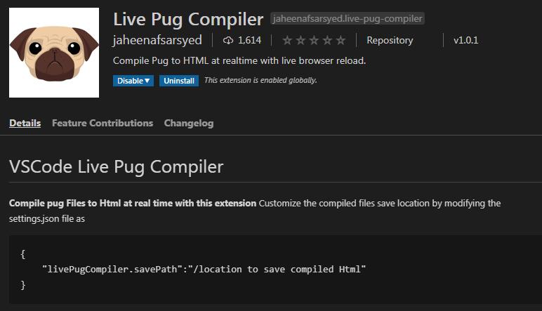 Live pug to html compiler
