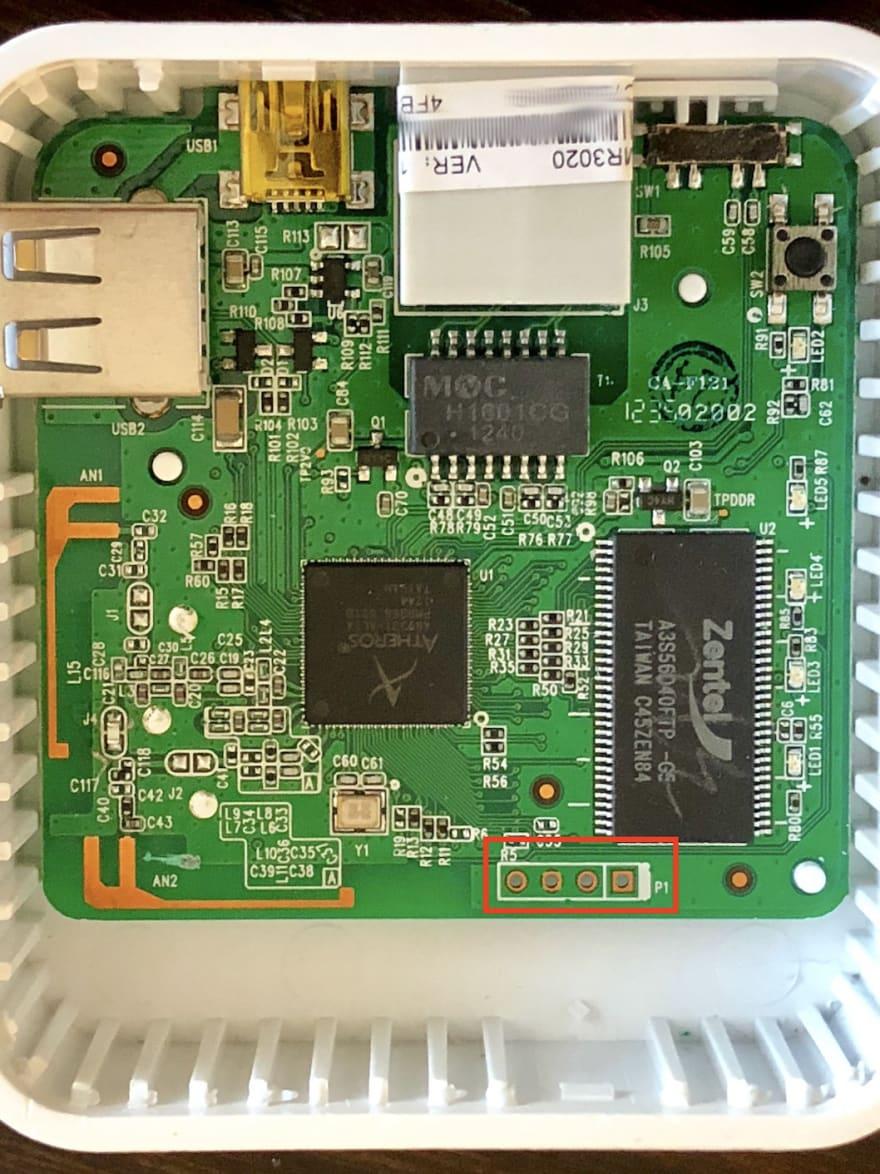 TL-MR3020 UART pin location