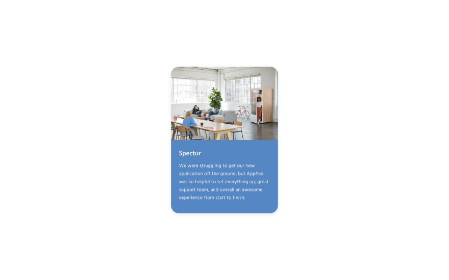 Simple UI Card Design
