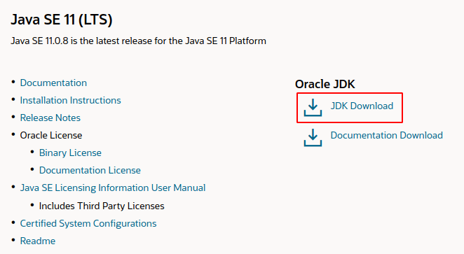 Oracle JDK Download Page