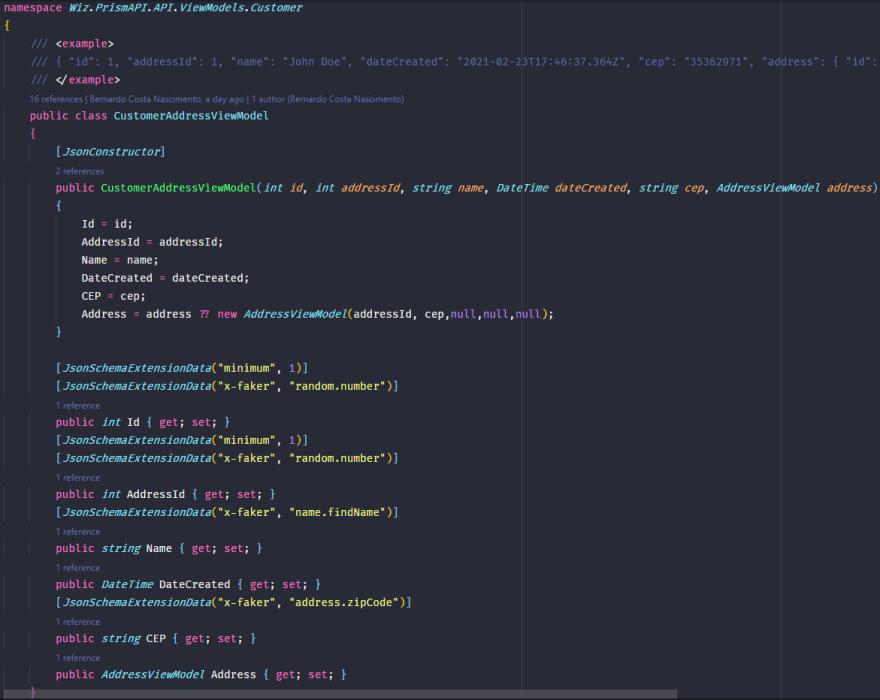 Exemplos de tags para documentação no OpenAPI