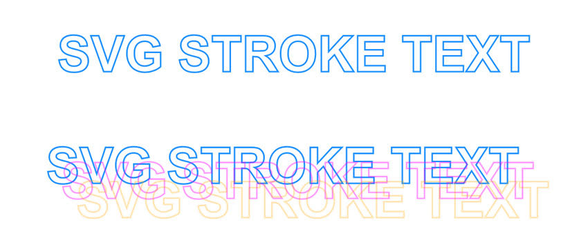 SVG Stroke Text