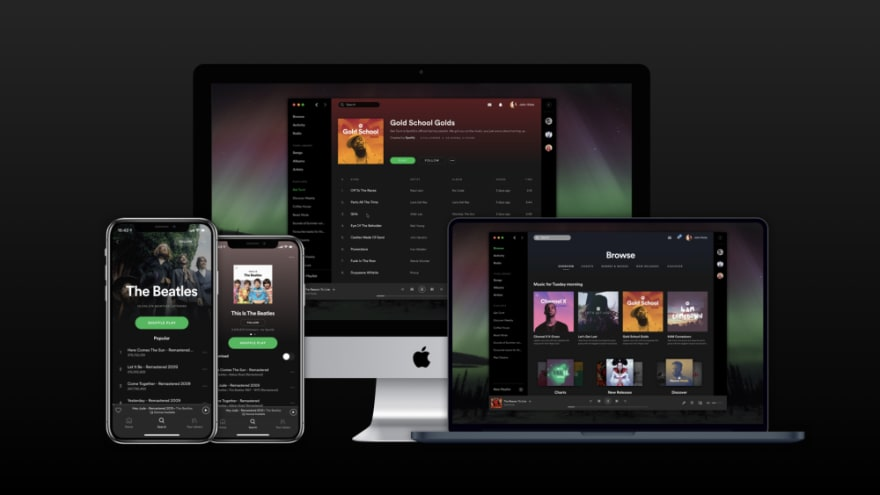 Spotify consistent UI from 2015