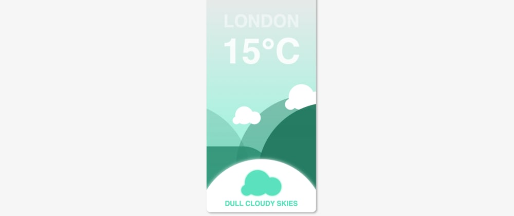 Cover image for Dynamic weather🌤 Interface with just CSS!