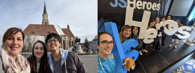 Techspeakers around Cluj and at JSHeroes