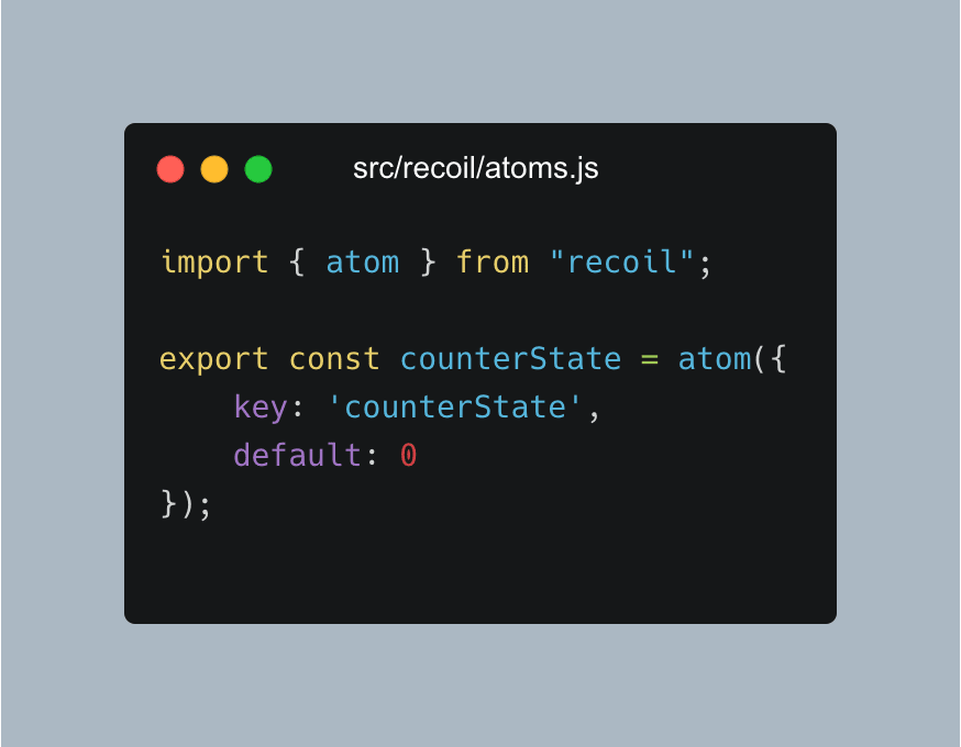react recoil vs redux—creating the atoms