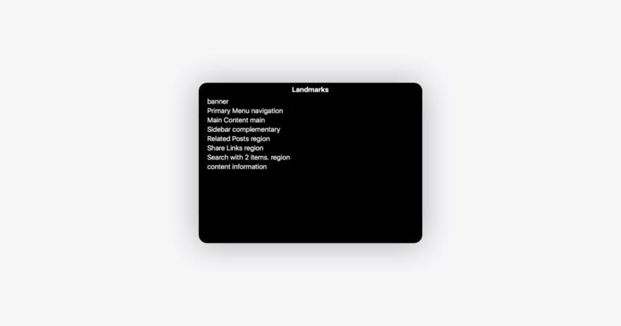 LiveChat accessibility landmark navigation