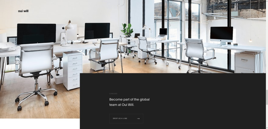 Black background design, black emphasized sections example