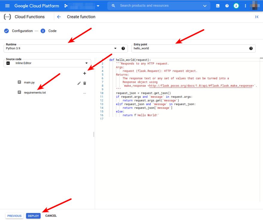 Edit code form