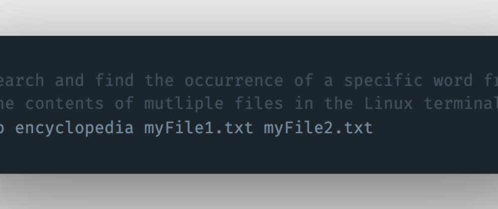 Cover image for How to search and find a specific keyword or term from the contents of multiple files in the Linux terminal?