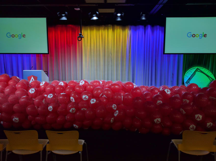 Balloons at the release of Angular 2.0