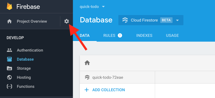 Firebase Settings