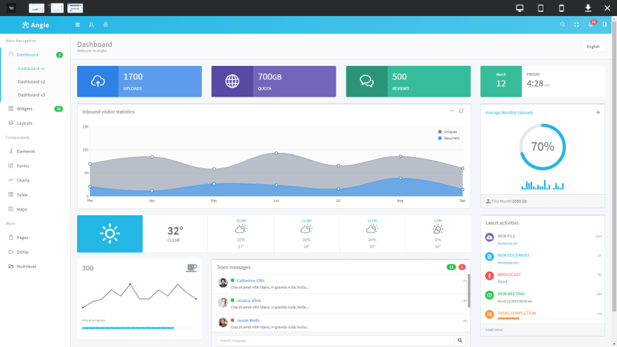 Angle Bootstrap Admin Template
