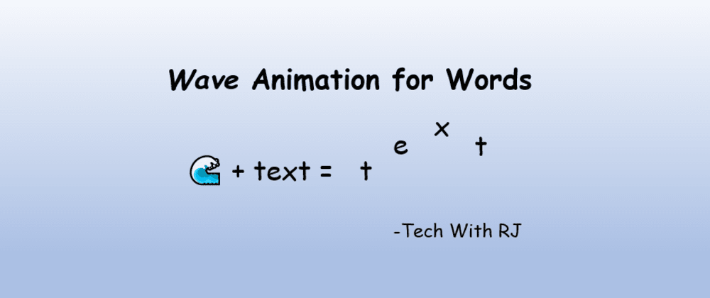 Cover image for Wave Animation for Words
