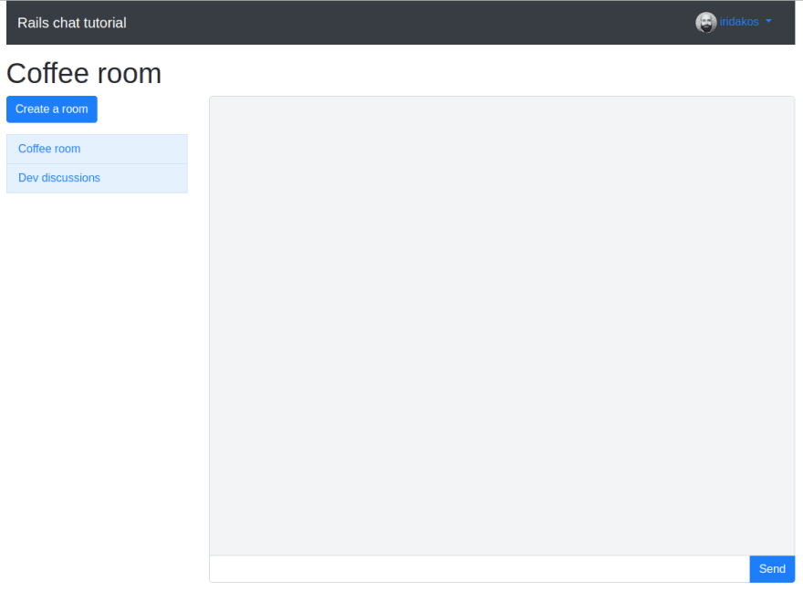 Room page with chat