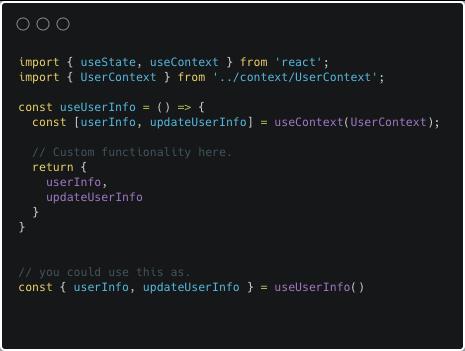 Code with custom hooks