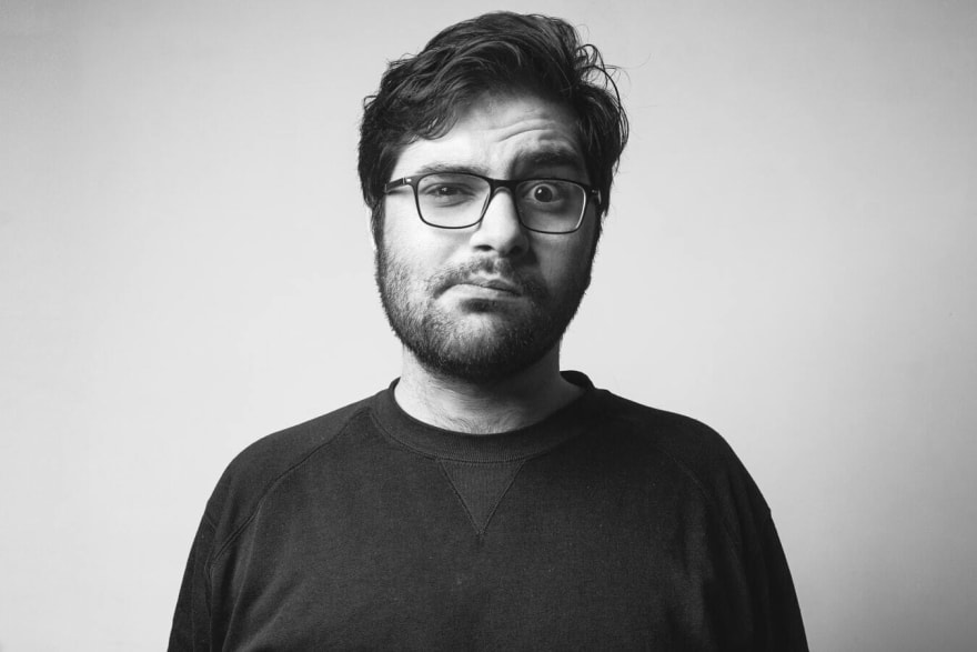 Black/white image, man confused face