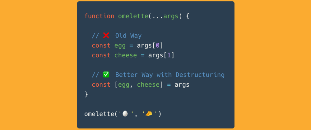 Cover image for Extract Functions Arguments using Destructure in JavaScript