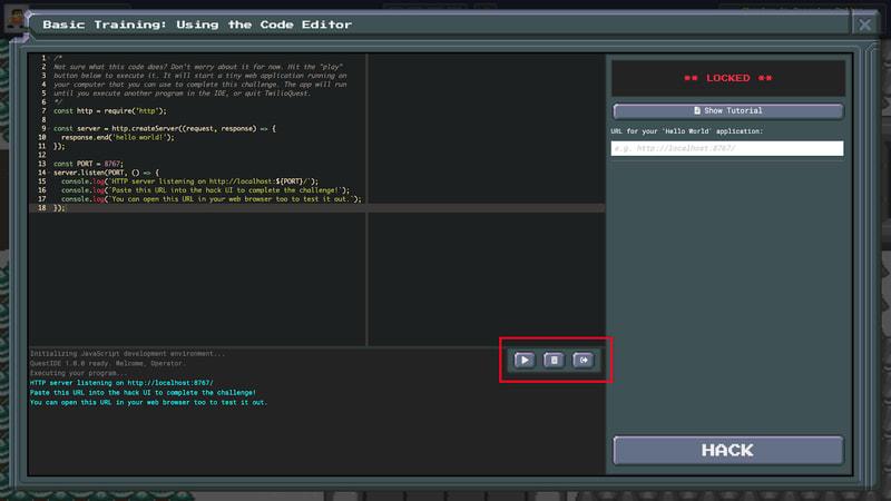 TwilioQuest3 - Basic Mission - Code Editor