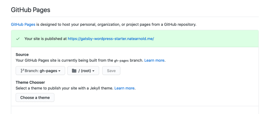 Deploying Gatsby to GitHub Pages