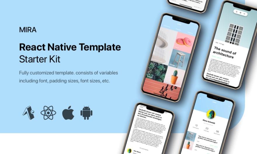 Mira – React Native Template & starter kit