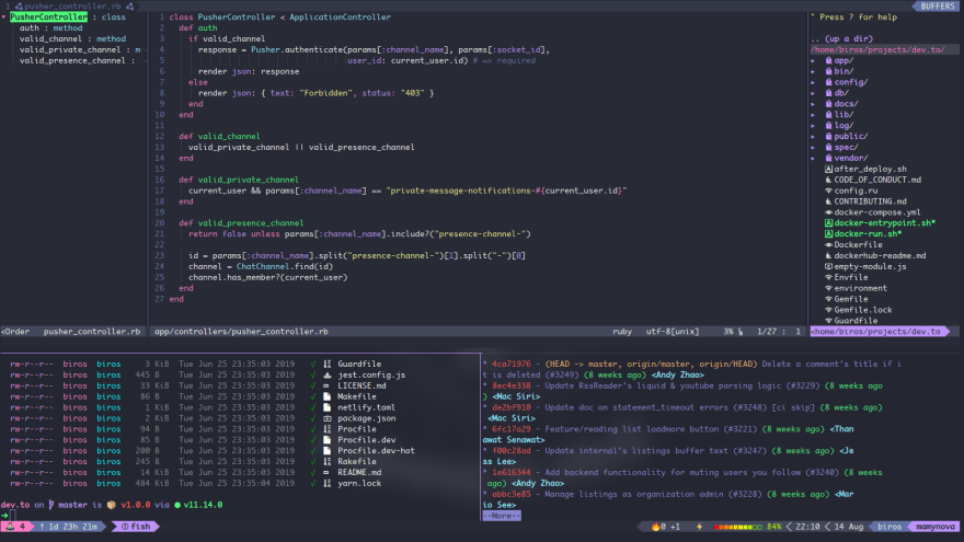 Discussion of What Does Your IDE/Code Editor Look Like? — DEV