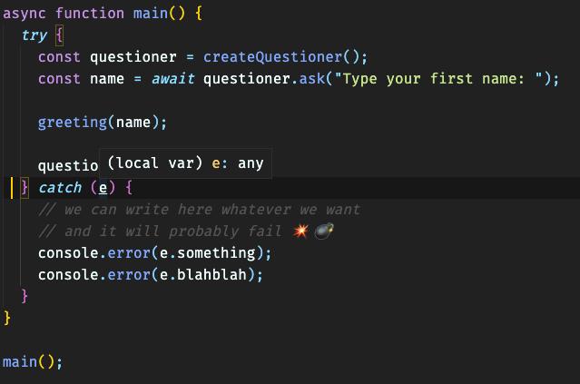 Screenshot of an example in VSCode 1
