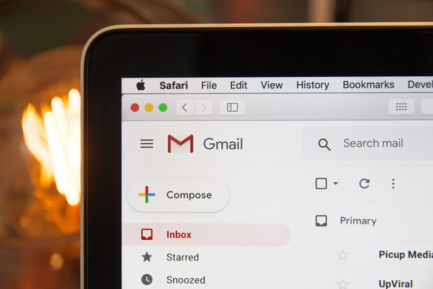 Image of an email inbox