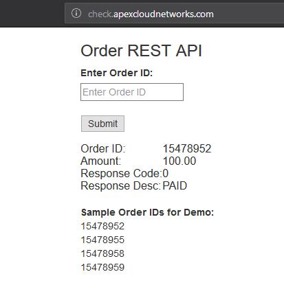 Check order