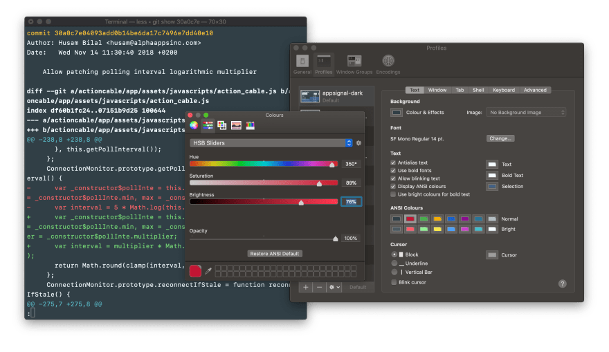 Changing the red color in a Terminal.app color theme