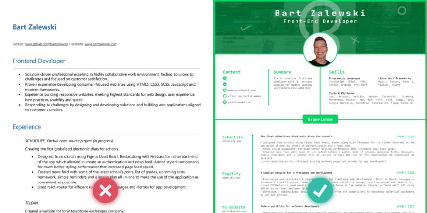Resume comparison