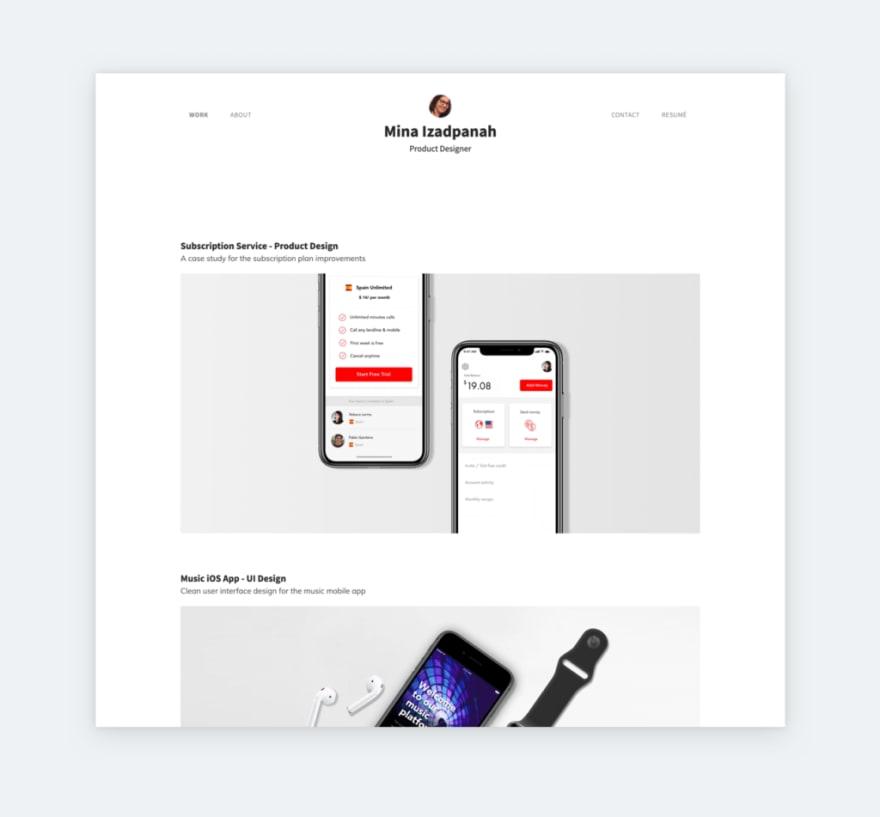 Mina Izadpanah's UX designer portfolio