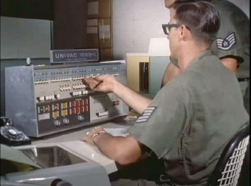Univac 1050-II, 1964, first computer using ASCII (wikipedia)
