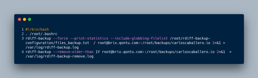 Backup automated using rdiff-backup - DEV Community 👩 💻👨 💻