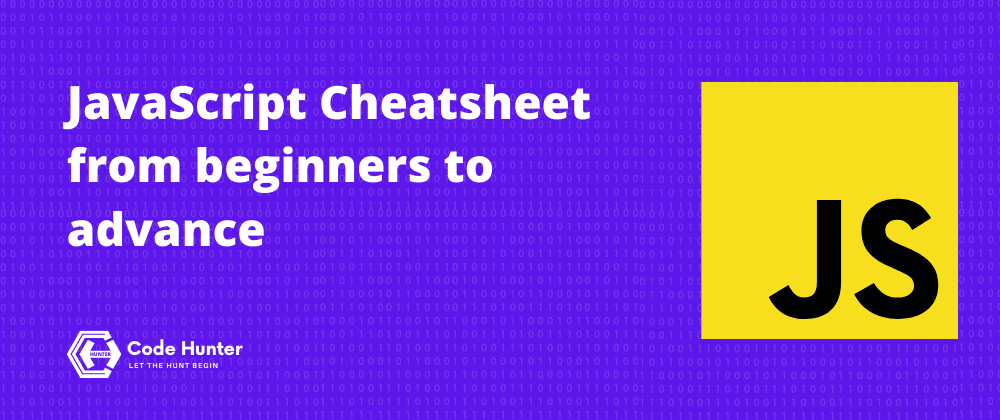 Cover Image for JavaScript Cheat sheet from beginners to advance