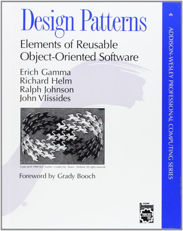 Design Patterns: Elements of Reusable Object-Oriented Software by Erich Gamma, Richard Helm, and Ralph Johnson