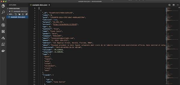 Example JSON Document