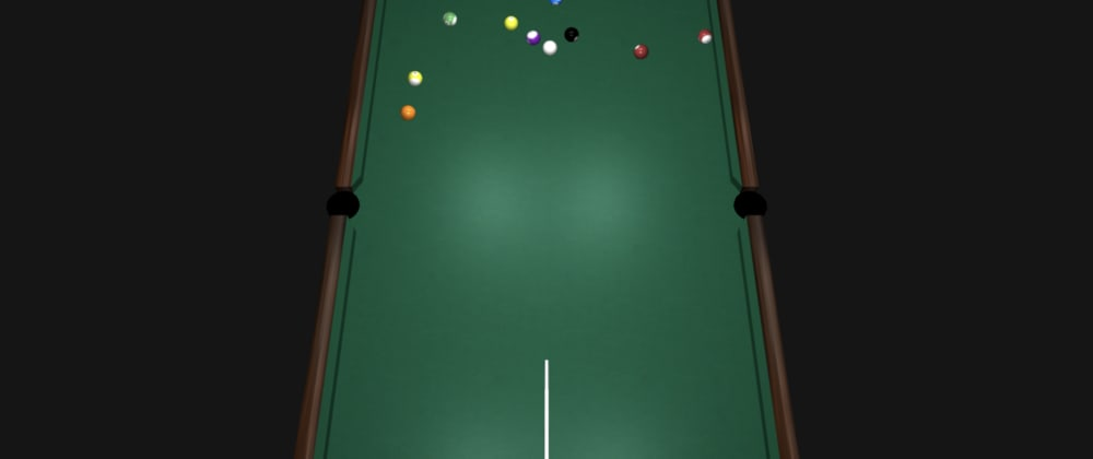 Cover image for Creating a rudimentary pool table game using React, Three JS and react-three-fiber: Part 1