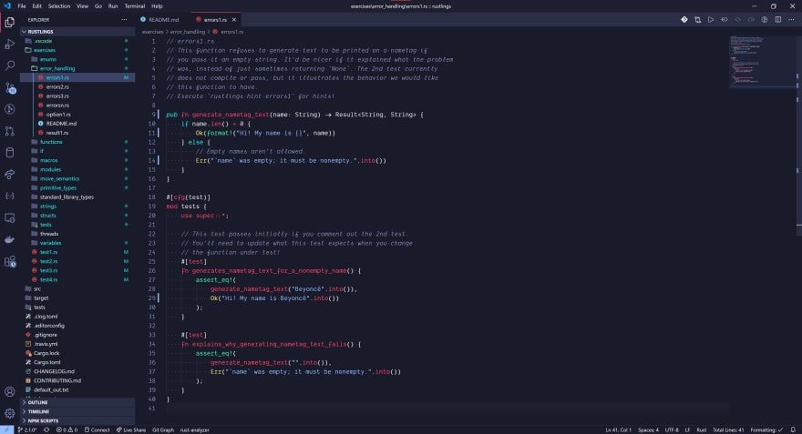 VS Code screenshot