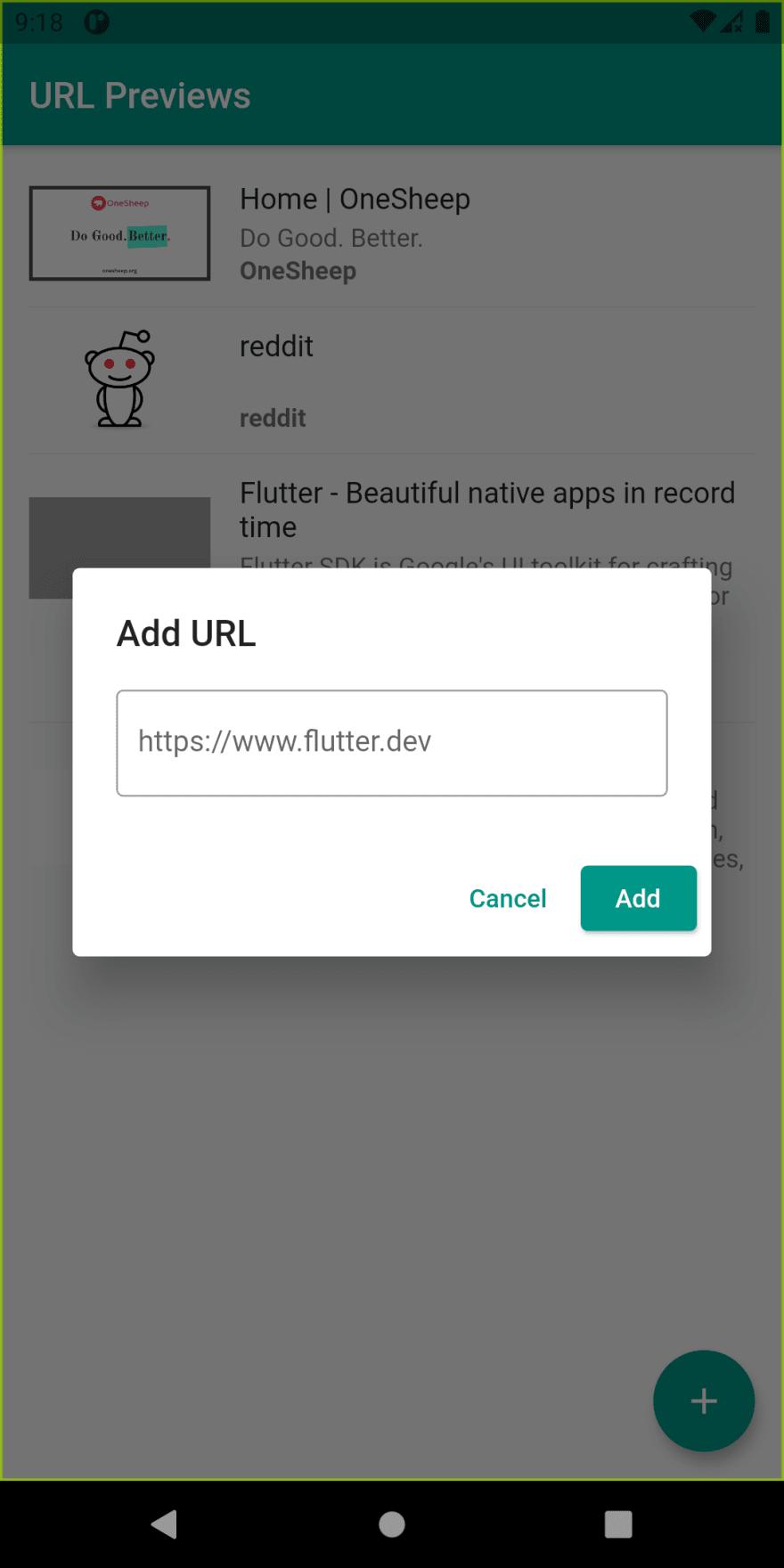 Adding new URL