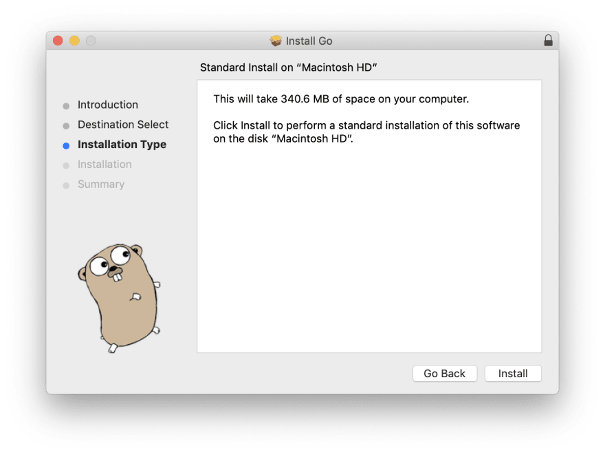 golang installation step2