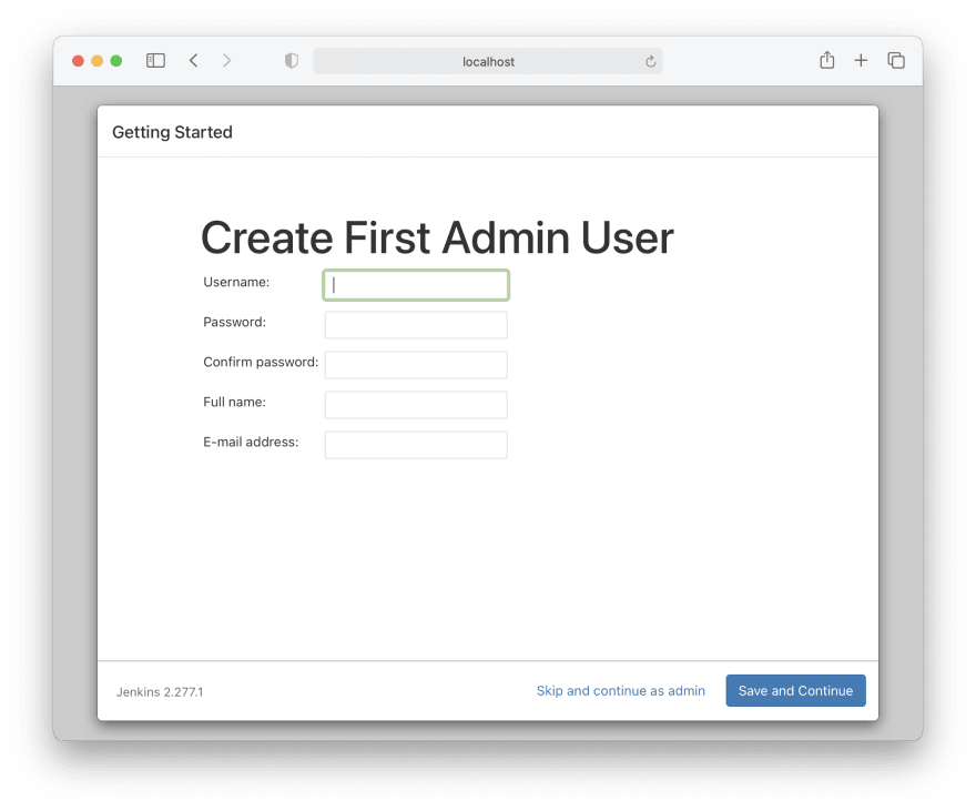 Jenkins Admin User Details request